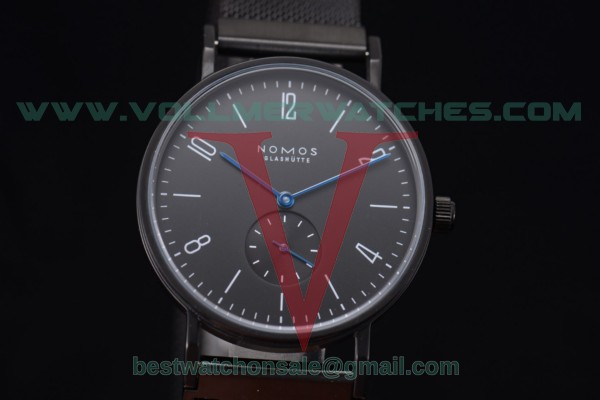 Nomos Glashutte Tangente 33 Manual Winding Black Dial with PVD Case Stick/Arabic Numeral Markers 122BP