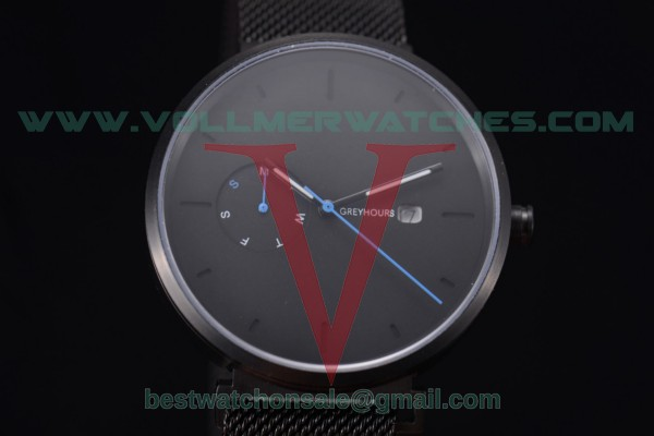 Greyhours Essential - Dark Hours Quartz Black Dial with PVD Case GE0138
