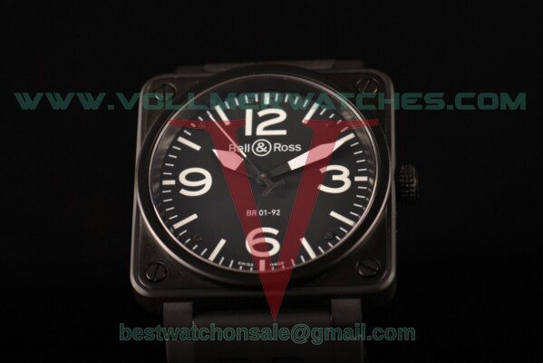 Bell&Ross BR 01-92 ETA 2824 Auto Black Dial with PVD Case