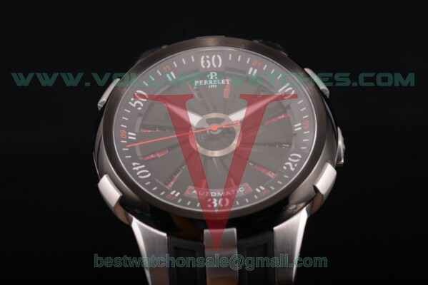 Perrelet XL Vegas Auto Black Dial with Steel Case A4054/1
