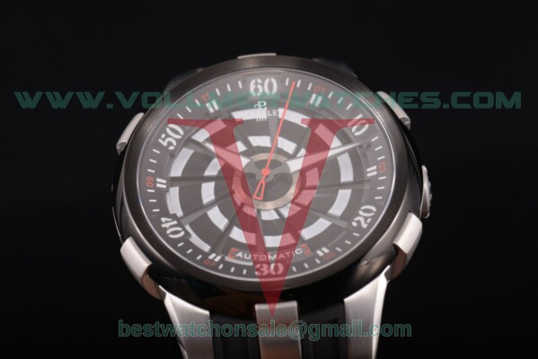 Perrelet Turbine XL Toxic Auto Black Dial with Steel Case A4024/2