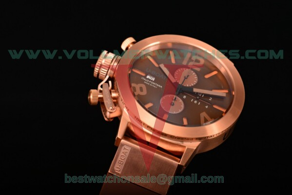 U-Boat Classico Italo Fontana Chrono Miyota Quartz Coffee Dial with Rose Gold Case 5172R