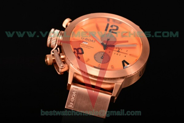 U-Boat Classico Italo Fontana Chrono Miyota Quartz Rose Gold Dial with Rose Gold Case 5173R