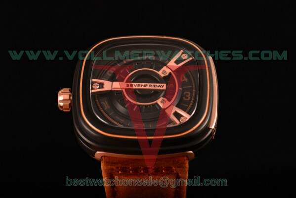 SevenFriday M2-2 9015 Auto Black Dial With PVD Case