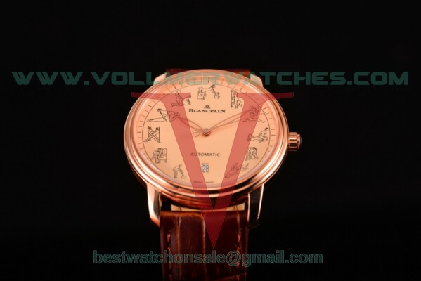 Blancpain Le Brassus 2824 Auto Beige Dial With Rose Gold Case 2322-3632-51B