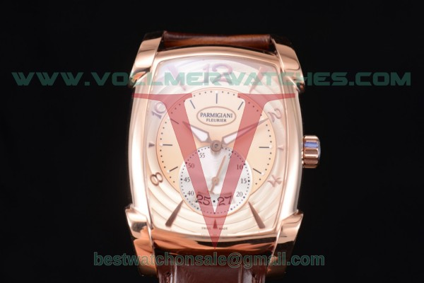 Parmigiani Kalpa Grande Clone Parmigiani PF331.01 Auto Rose Gold Dial With Rose Gold Case PFC124-1000301-HA1443