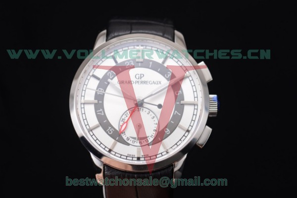 Girard Perregaux 1966 Dual Time GP03300-0119 Auto White Dial With Steel Case 49544-52-231-BB62