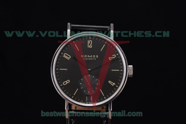 Nomos Glashutte Tangente 38 Clone Glashutte Auto Black Dial With Steel Case 123B