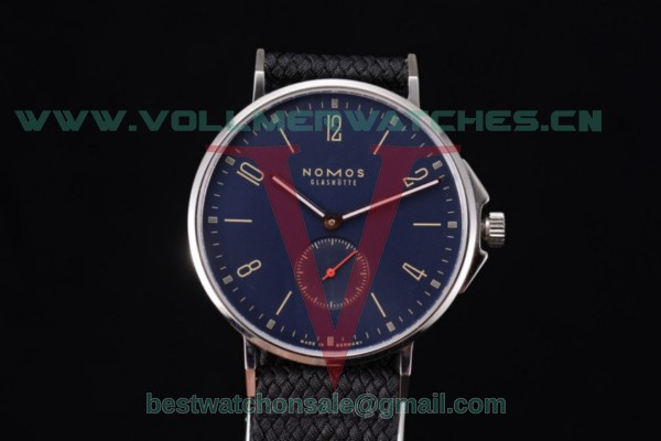 Nomos Glashutte Tangente 33 Clone Glashutte Auto Blue Dial With Steel Case 123N