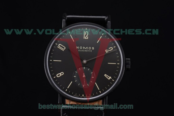 Nomos Glashutte Tangente 33 Clone Glashutte Auto Black Dial With PVD Case 123AB