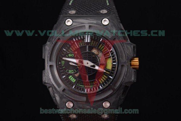 Linde Werdelin Spidolite II Tech Green 7750 Auto Skeleton Dial With Forge Carbon Case SLTCCG.II.1