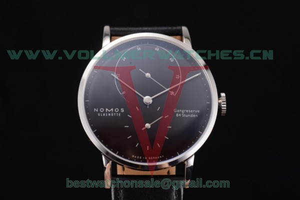 Nomos Glashütte Gangreserve 84 Stunden Asia Manual Winding Black Dial With Steel Case 136B