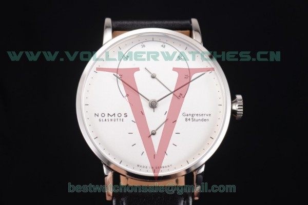 Nomos Glashütte Gangreserve 84 Stunden Asia Manual Winding White Dial With Steel Case 136W