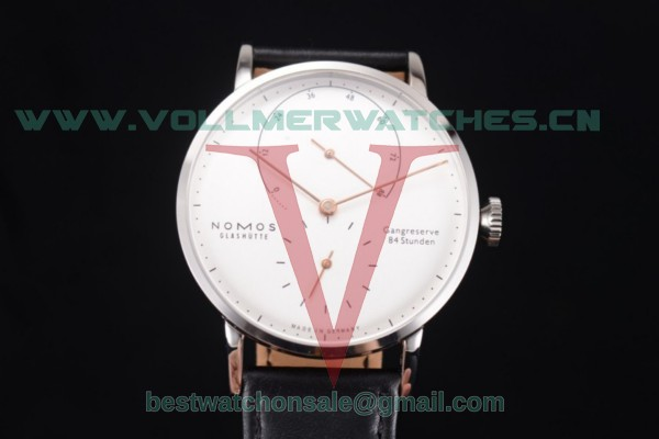 Nomos Glashütte Gangreserve 84 Stunden Asia Manual Winding White Dial With Steel Case 136WG