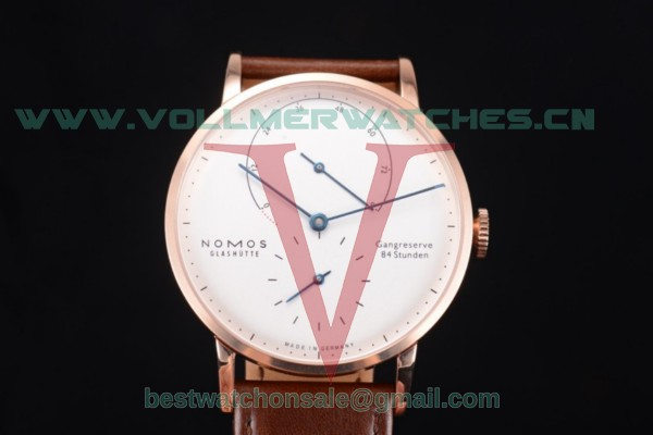 Nomos Glashütte Gangreserve 84 Stunden Asia Manual Winding White Dial With Rose Gold Case 137WBL