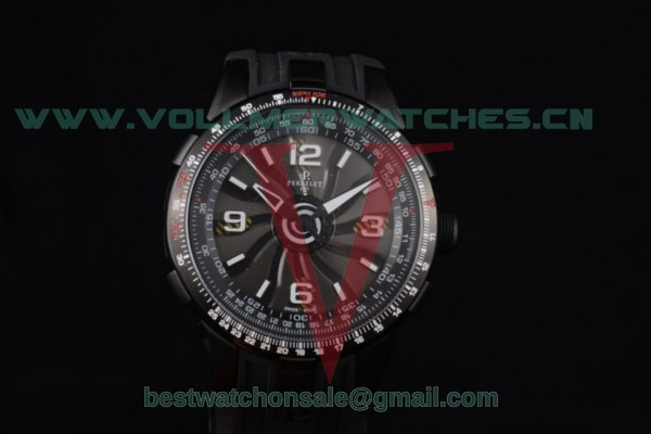 Perrelet Turbine Pilot Asia Auto Black Dial With PVD Case A1086/1