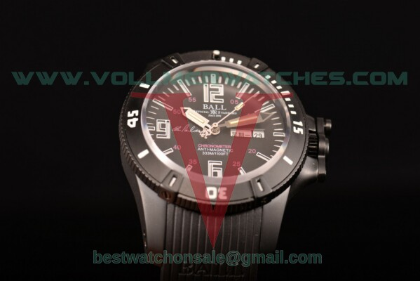 Ball Engineer Hydrocarbon Miyota 8205 Auto Black Dial with PVD Case DM2036A-S5CA-PRBWW