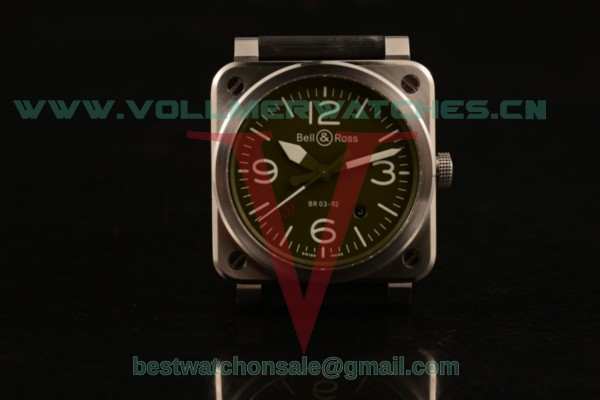 Bell&Ross BR 03-92 S Aviation Type 9015 Auto Green Dial with Steel Case BR 03-92 S