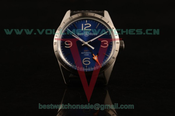 Bell&Ross Vintage BR 123 GMT 9015 Auto Blue Dial with Steel Case BR 123