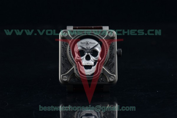 1:1 Bell & Ross BR 01 Burning Skull Asia Automatic Skull Dial with Steel Case (AAAF)