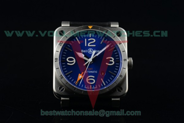 Bell&Ross BR 03-93 GMT 2836 Auto Blue Dial with Steel Case