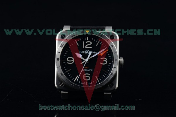 Bell&Ross BR 03-93 GMT 2836 Auto Black Dial with Steel Case