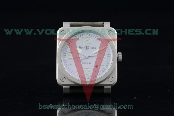 Bell&Ross BR03-92 2824 Auto White Dial with Steel Case BR03-92 (AAAF)