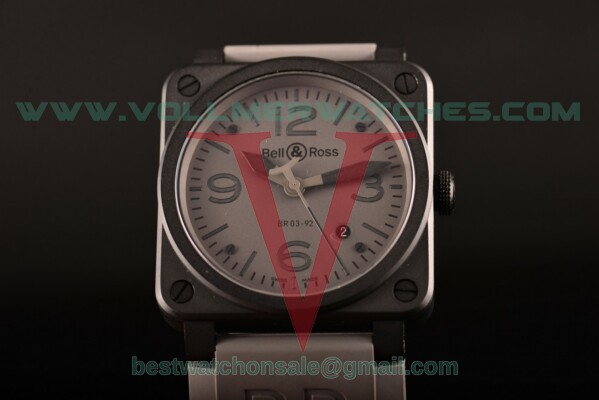Bell&Ross BR 03-92 Commando Miyota 9015 Auto Grey Dial with PVD Case