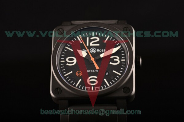 Bell&Ross BR 03-92 Ltd Limited Edition Miyota 9015 Auto Black Dial with PVD Case