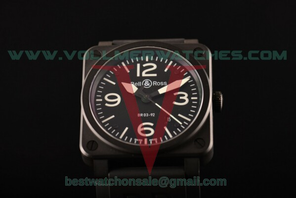 "Bell&Ross BR 03-92 ""Ceramic"" Miyota 9015 Auto Black Dial with PVD Case"