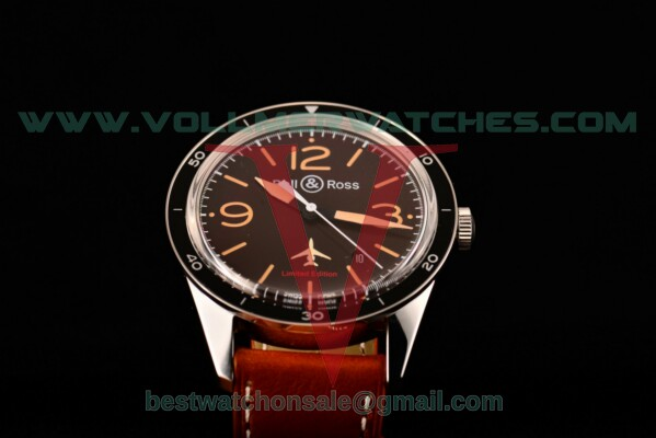 Bell&Ross Sports Heritage Limited Edition BR 123 Miyota 9015 Auto Brown Dial With Steel Case BR 123