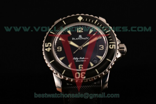 Blancpain Fifty Fathoms Automatic 2824 Auto Black Dial with Steel Case 5015-1130-52 (ZF)