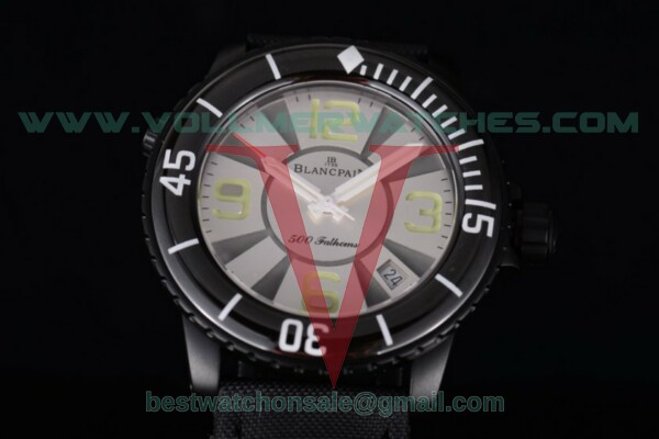 BlancPain 500 Fathoms Miyota 8205 Quartz White Dial with PVD Case 50015-12B30-52A