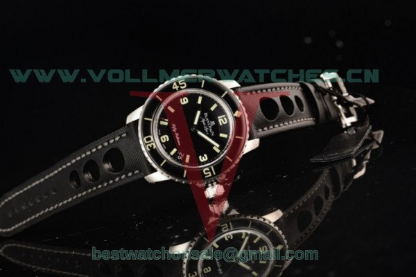 1:1 Blancpain Fifty Fathoms 9015 Auto Black Dial With Steel Case 5015-1130-52b (ZF)