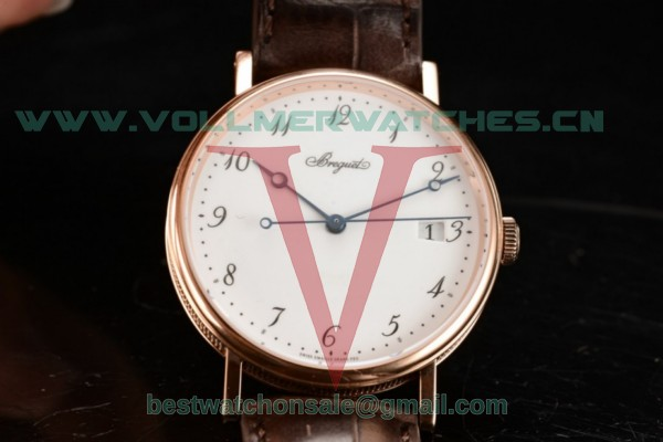Breguet Classique Japanese Miyota 9015 Auto White Dial with Rose Gold Case 5177BR/29/9V6 (FF)