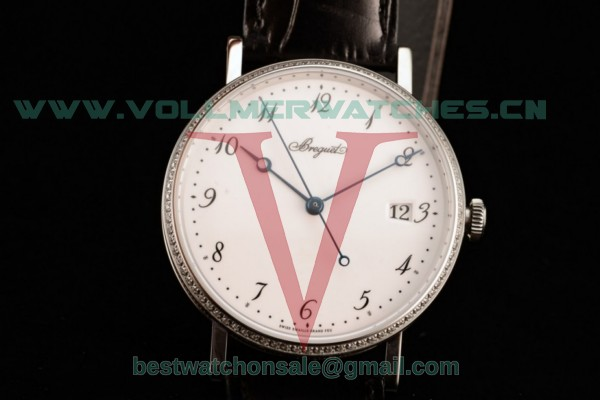 Breguet Classique Japanese Miyota 9015 Auto White Dial with Steel Case 5177BB299V6B (FF)