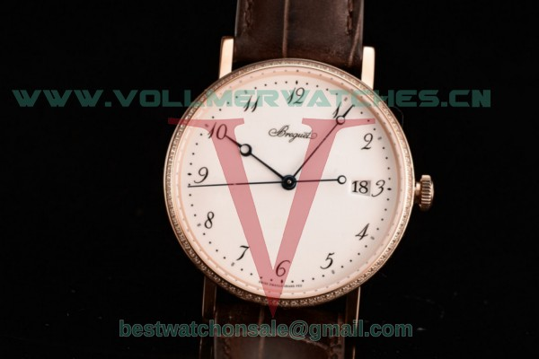 Breguet Classique Japanese Miyota 9015 Auto White Dial with Rose Gold Case 5177BR/29/9V6B (FF)