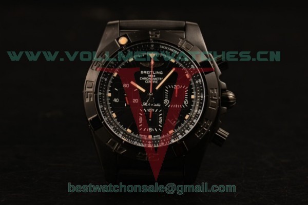 Breitling Chronomat B01 44 Blacksteel Chrono 7750 Auto Black Dial with PVD Case MB0111C3/BE35-253S