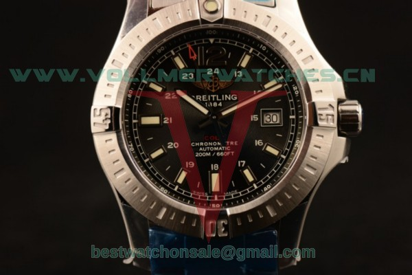 Breitling Clot 2824 Auto Black Dial with Steel Case A7438811-BD45SS