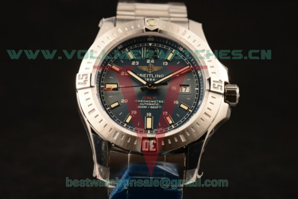 Breitling Clot 2824 Auto Blue Dial with Steel Case A1738811.C906.173A