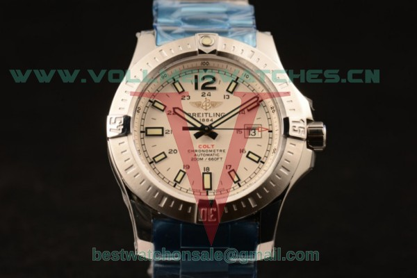 Breitling Clot 2824 Auto White Dial with Steel Case a1738811/g791-ss