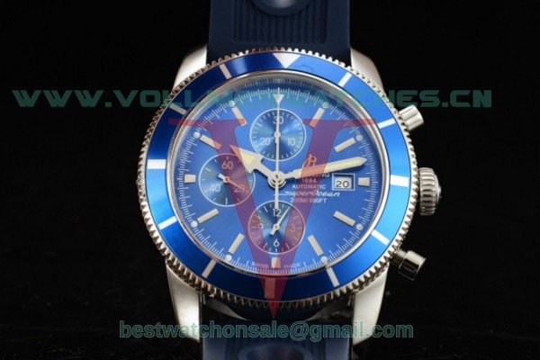 Breitling SuperOcean Heritage Chrono Swiss Valjoux 7750 Auto Blue Dial With Steel Case a1331216/c963/205s (JH)