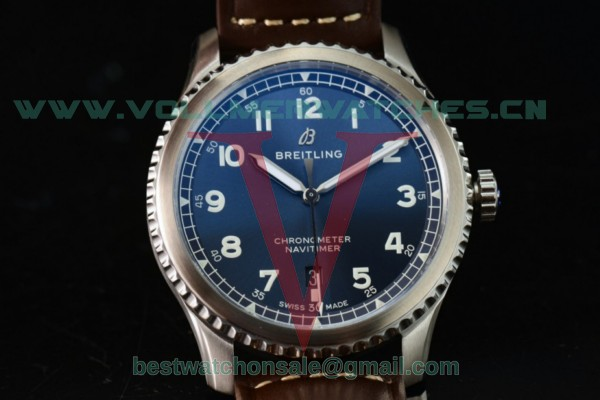Breitling Navitimer 8 Swiss ETA 2824 Auto Blue Dial With Steel Case A17314101C1A1LE(ZF)
