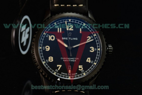 Breitling Navitimer 8 Swiss ETA 2824 Auto Black Dial With PVD Case M17314101B1X1(ZF)