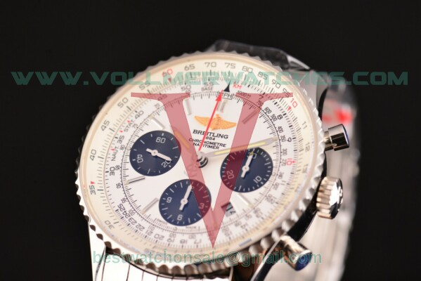 Breitling Navitimer 01 Chrono 7750 Auto White Dial with Full Steel Case ab012312/g756