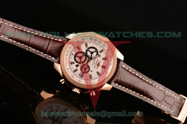 Breitling Bentley Barnato Racing 7750 Auto White Dial with Rose Gold Case R25366(Z)