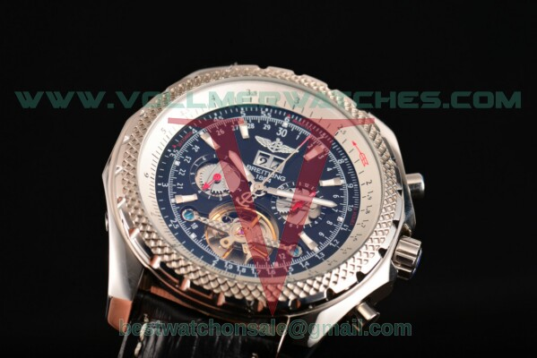 Breitling Bentley Tourbillon Auto Black Dial with Steel Case A18841