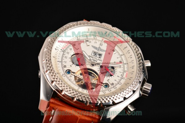 Breitling Bentley Tourbillon Auto White Dial with Steel Case A18841