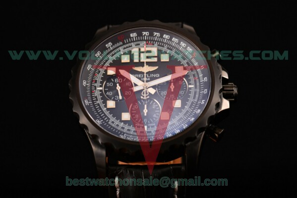 Breitling Chronospace Chrono 7750 Auto Black Dial with PVD Case A2336036
