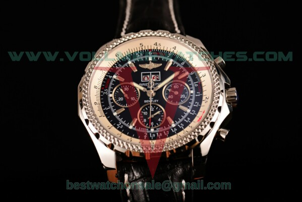 Breitling Bentley 6.75 Speed Chrono 7750 Auto Black Dial with Steel Case a4436412/b959-1lt (GF)